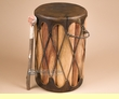 "Decorative Tarahumara Cedar Drum 10""x16"" (tid4)"