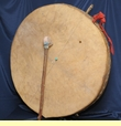 Tarahumara Indian Ceremonial Drum 26""
