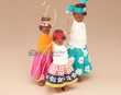 Tarahumara Indian Doll Christmas Ornaments- 3 piece set