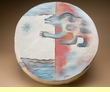 "Tarahumara Indian Painted Drum 16"" -Spirit Bear  (pd5)"