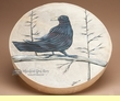 "Tarahumara Indian Painted Hand Drum 16"" -Raven"
