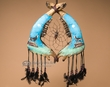 "Tarahumara Indian Steer Jaw Bone Dream Catcher 15"" -Wolf  (jb6)"