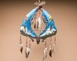 "Tarahumara Indian Jaw Bone Dreamcatcher 15"" -Eagles (jb2)"