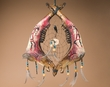 "Tarahumara Indian Steer Jaw Bone Dream Catcher 19.5"" -Kokopelli"