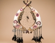 "Tarahumara Indian Steer Jaw Bone Dream Catcher 17.5"" - Bear"