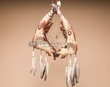 "Tarahumara Indian Steer Jaw Bone Dream Catcher 18"" - Bear"
