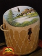 Tarahumara Log Drum 13x14 -Village  One-Of-A-Kind