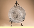 """Etched Horse Hair Plate & Iron Stand 11"""" -Navajo  (o15)"""