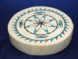 "Tigua Indian Painted Drum 16"" -Lizard /Flower"