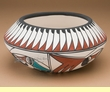 "Tigua Indian Pottery Bowl  - 7.5""x3.25"""