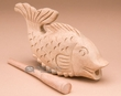 "Tiny Carved Wooden Instrument -Croaking Fish 7""  (f15)"