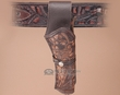 """Tooled Western Gun Holster 8"""" -Right Handed  (h1)"""