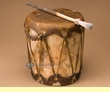 "Tree Trunk Hand Drum 8.5""x9.25"" -Aspen  (pd5)"