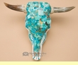 Turquoise Overlaid Painted Steer Skull 18.5x15.5  (PS15)