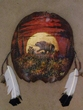 Turtle Shell Painted Wall Hanging -Sunrise Bear (9)