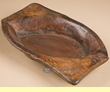 Vintage Rustic Hand Carved Wooden Bowl 8x15  (b25)