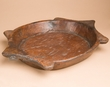 "Vintage Rustic Hand Carved Wooden Bowl 17.5""x12.5""  (b25)"