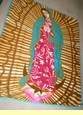 Virgin Of Guadalupe Fleece Blanket 4x5