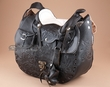 "Western Black Leather Saddle Purse 11"" x10""  (p80)"
