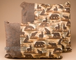 Pair of Southwestern Cabin Pillow -Bear