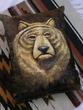 Western Cowhide Pillow - Bear  (21)