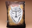 Western Cowhide Pillow - Wolf  (22)