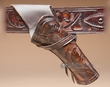 """Western Crossdraw Tooled Leather Holster 8"""" -Right  (H6)"""