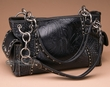 Western Designer Faux Leather Purse -Black  (p425)