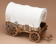 "Western Hand Crafted Covered Wagon -10"" Tall  (w2)"