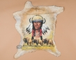 """Western Hide Wall Hanging 28""""x32"""" -Crazy Horse  (55)"""
