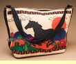 Western Style Printed Cotton Purse -Running Horse  (p32)
