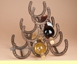 Western Iron Art Wine Rack -Horseshoes  (ia21)