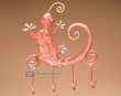 "Southwestern Iron Art 4 Hook Rack 7""x8"" -Gecko  (ia29)"