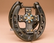 Western Iron Art Door Knocker -Horseshoe Cross