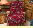 Soft Jacquard Throw Blanket 50x60 -Southwest  (t3)