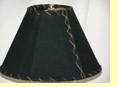 "Western Leather Lamp Shade - 12"" Black Pig Skin"