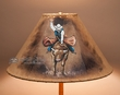"Western Leather Lamp Shade 16"" -Bull Rider  (pl116)"