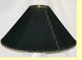 "Western Leather Lamp Shade - 20"" Black Pig Skin"