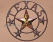 "Western Metal Star Wall Decor 16"" -Cowboy (3)  CLEARANCE"