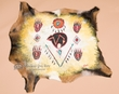 "Western Painted Goat Hide Wall Hanging 30""x27"" -Native  (38)"
