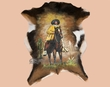 "Western Painted Hide Wall Decor 25""x32"" -Pancho Villa  (57)"