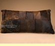 "Western Cowhide Pillow 30""x15"" -Patchwork  (wp10)"