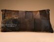 """Western Cowhide Pillow 30""""x15"""" -Patchwork  (wp10)"""