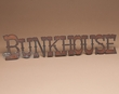 Western Rustic Metal Wall Plaque -Bunk House  (p201)