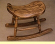 "Western Saddle Oak Rocker 17"" -Amish Made"