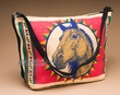 Western Style Printed Cotton Purse -Horse  (439)