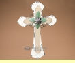 "Rustic Western Wood & Metal Cross16"" -White   (c15)"
