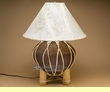 "Western Tarahumara Indian Pottery Lamp 23"" -Brown"