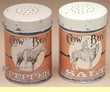 "Western Tin Salt & Pepper Shaker Set 4"" -Cowboy (SP4)"