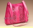 Western Tooled Leather Purse -Pink  (p33)